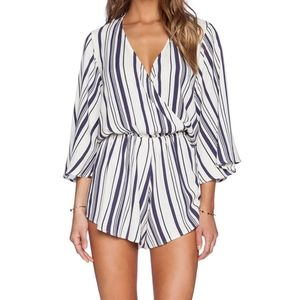 Blue Life Wild and Free Striped Romper